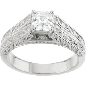 Filigree, Cathedral-Style Engagment Ring
