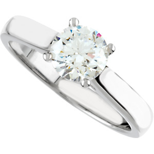 Solitaire Cathedral-Style Engagement Ring