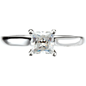 Cathedral-Style Solitaire Engagement Ring Mounting