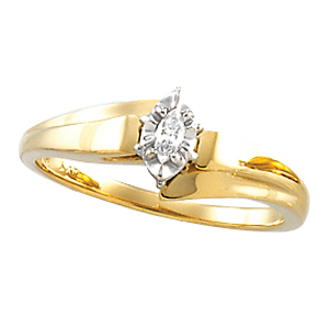 Solitaire Cathedral Engagement & Wedding, Marquis-Cut