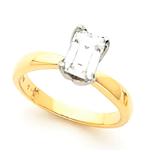Emerald Shape Tulipset® Solitaire Mounting