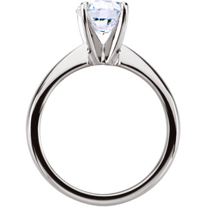 4-Prong Solitaire Ring, side view