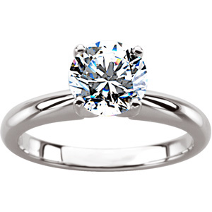 4-Prong Solitaire Ring, Round