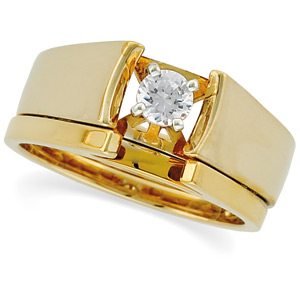 aire Cathedral Engagement & Wedding, Yellow Gold