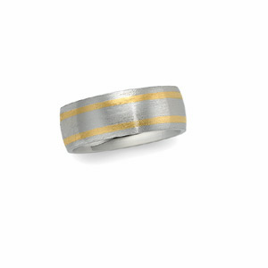 7mm Two-Tone Wedding Band, woman's ring