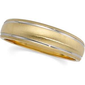 6mm Two-Tone Tapered Design Band, men's ring