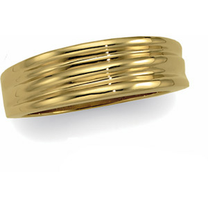 6.5mm Fancy Band, men's ring