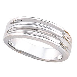 6.5mm Fancy Band, white gold