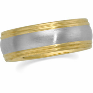 8mm Two-Tone Comfort-Fit Band