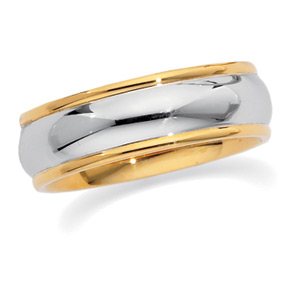6mm Two-Tone Wedding Ring, ladie's