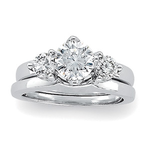 Clarionfinejewelry Solitaire With Diamond Wrap