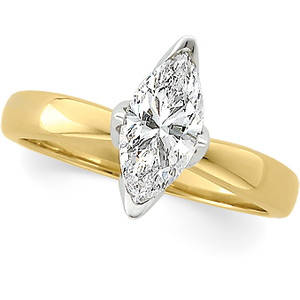 Marquise Tulipset® Diamond Solitaire