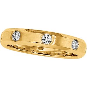 1/2 ct tw Diamond Duo Band, detail