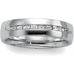 3/8 ct Diamond Bridal Duo Band, men's ring