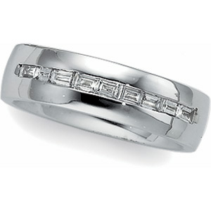 3/8 ct Diamond Bridal Duo Band, women's ring