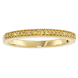 1/8 ct tw Yellow Diamond Band, yellow gold