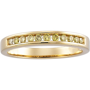 Yellow Diamond Band, 14K yellow gold