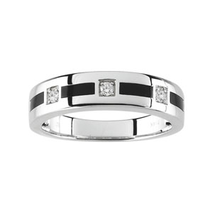 Gent's Diamond & Onyx Wedding Band