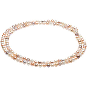 Freshwater Cultured Multi-Color Pearl Strand, Double Strand