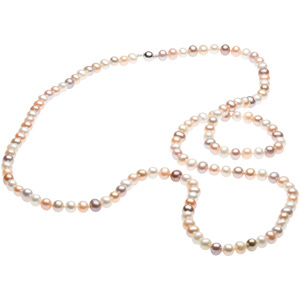 Freshwater Cultured Multi-Color Pearl Strand, 42-inch Strand