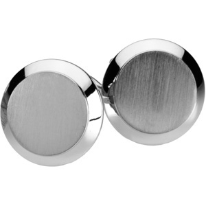 Gent's Platinum Cuff Links, front view