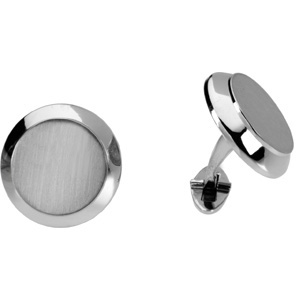 Best Fathers Day Gifts: Men's Platinum Cuff Links, right side