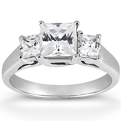 halo k engagement ring w white square three split shank qrtr rings collection cut princesse princess gold natalie by diamond