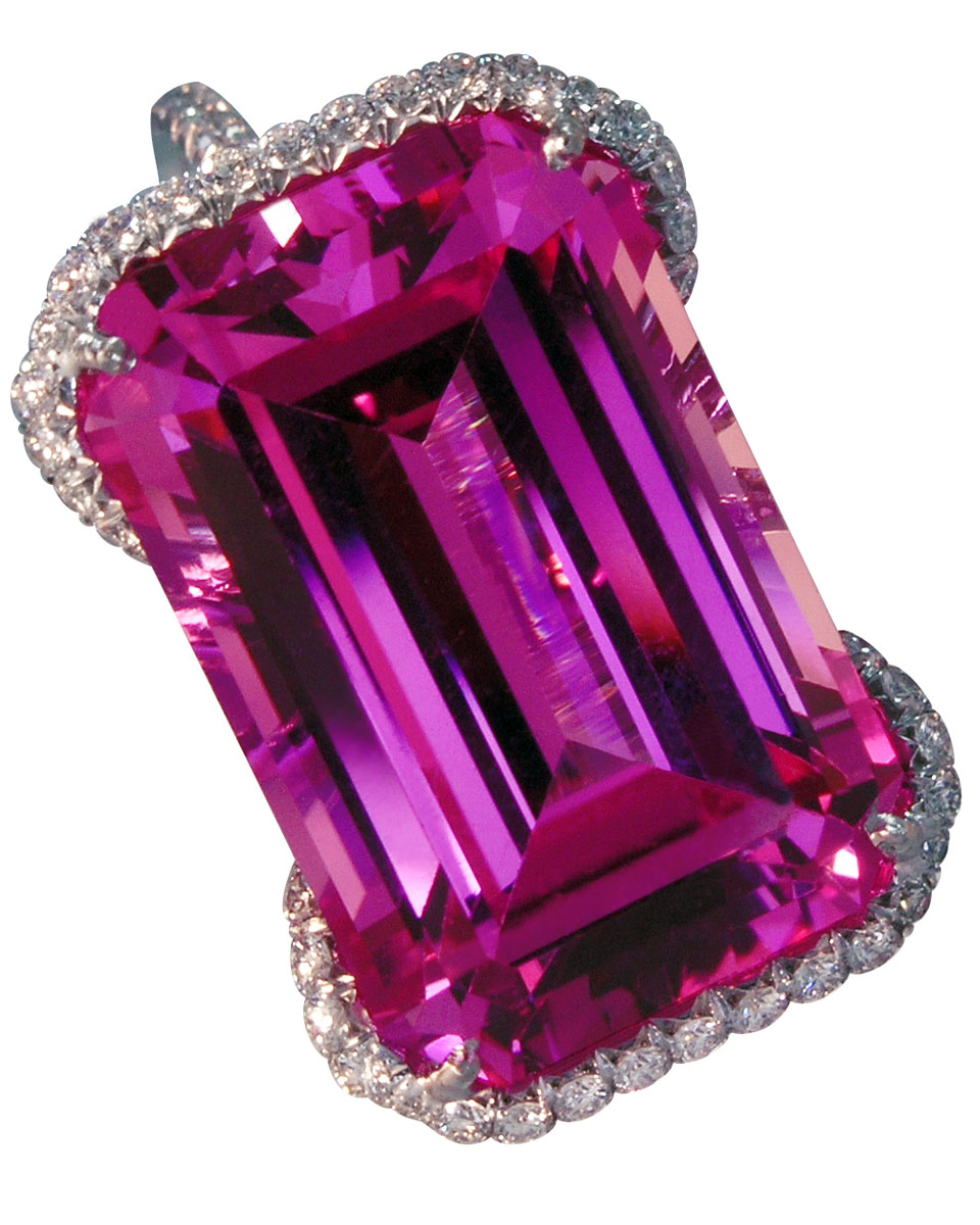 Pink Stone with Pave Diamonds, Clarion Fine Jewelry, Fairfax, VA