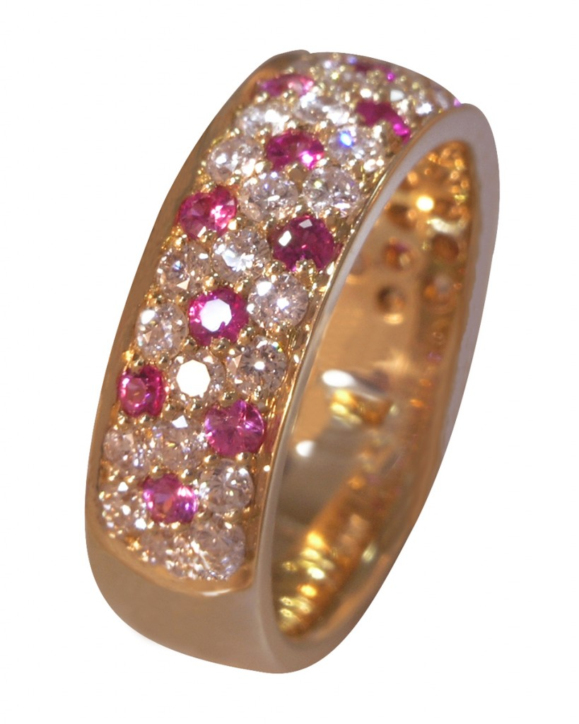 Diamond And Pink Sapphire Wedding Band 41 Fresh Celebrating Cherry Blossoms in